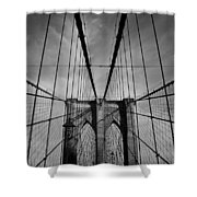 New York City - Brooklyn Bridge Shower Curtain