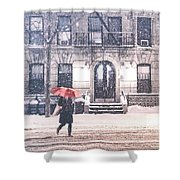 New York City Snow Shower Curtain by Vivienne Gucwa