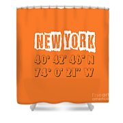 New York Coordinates Shower Curtain