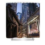 New York Wall Street Shower Curtain