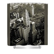 New York Woolworth Building - Vintage Photo Art Print Shower Curtain