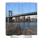 New York's Manhattan Bridge Shower Curtain