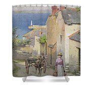 Newlyn From The Bottom Of Adit Lane Shower Curtain
