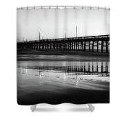 Newport Beach Pier At Sunrise Shower Curtain