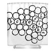 Newtons Principia, Laws Of Motion, 1687 Shower Curtain