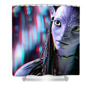 Neytiri - Use Red And Cyan 3d Glasses Shower Curtain