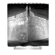 Night At The Castillo Shower Curtain by David Lee Thompson
