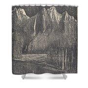 Night In The Yosemite Shower Curtain