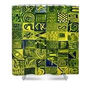 Night On The Lawn Shower Curtain