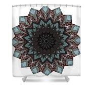10448 Night Shift Kaleidoscope Shower Curtain