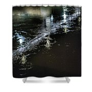 Night Stream Shower Curtain