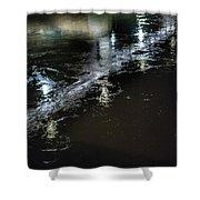 Night Stream Shower Curtain