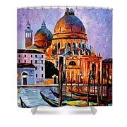 Night Venice Shower Curtain
