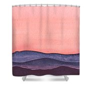 Nightfall Over The Hills Shower Curtain