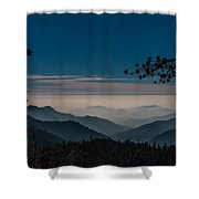 Misty Blue Shades Of Generals Highway 1 Shower Curtain