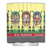 No Parking Zone Shower Curtain