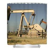 Nodding Donkey Oil Pumps Shower Curtain
