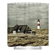 North Sea Lighthouse - Germany Shower Curtain