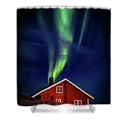 Northern Lights Chimney Shower Curtain