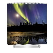 Northern Lights Thingvellir Shower Curtain