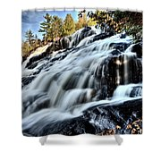 Northern Michigan Up Waterfalls Bond Falls Shower Curtain
