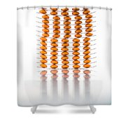 Nutritional Supplement Capsules Shower Curtain