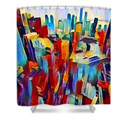 Nyc View Shower Curtain