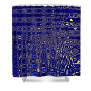 Oak Ball And Metal Plate Abstract Shower Curtain