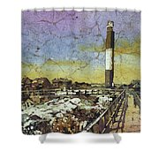 Oak Island Lighthouse Shower Curtain