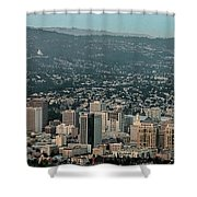 Oakland California Skyline Shower Curtain