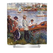 Oarsmen At Chatou Shower Curtain