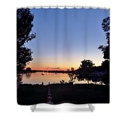 Obear Park And The Danvers River At Sunset Shower Curtain
