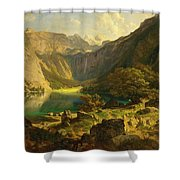 Obersee. Bavarian Alps Shower Curtain
