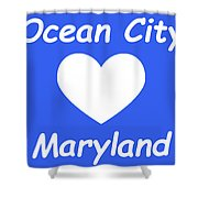 Ocean City Maryland Shower Curtain