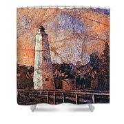 Ocracoke Island Lighthouse Shower Curtain