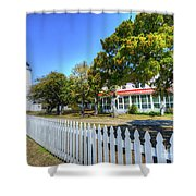Ocracoke Lighthouse, Ocracoke Island, Nc Shower Curtain
