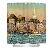 October Sundown Shower Curtain by Childe Hassam