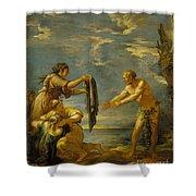 Odysseus And Nausicaa Shower Curtain