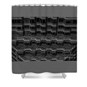 Office Building Abstract Shower Curtain