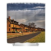 Officer's Row At Sandy Hook  Shower Curtain