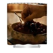 Oh Michael - Peel Me A Grape  Shower Curtain