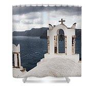Oia Santorini 0989 Shower Curtain