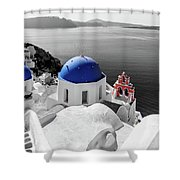 Oia, Santorini / Greece Shower Curtain