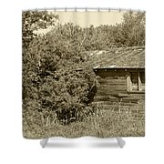Old Abandoned Barn Falling To Ruin Shower Curtain
