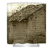 Old Adobe Building Shower Curtain