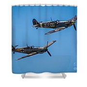 Old Adversaries Shower Curtain
