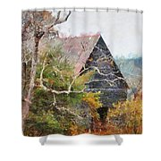 Old Barn At Cades Cove Shower Curtain