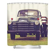 Old Chevy Farm Truck In Vermont Square Shower Curtain