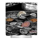 Old Coins Shower Curtain