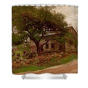 Old Farm House In The Catskills Shower Curtain